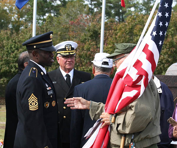 Flag ceremony in your honor
