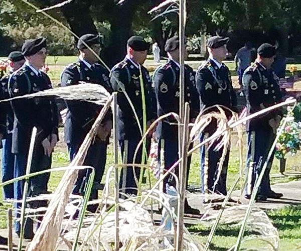 Veteran's funeral at North Myrtle Beach Memorial Gardens