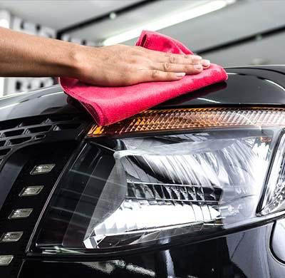 Our car wash provides a hand drying finish with a soft cloth close to Bellflower, CA