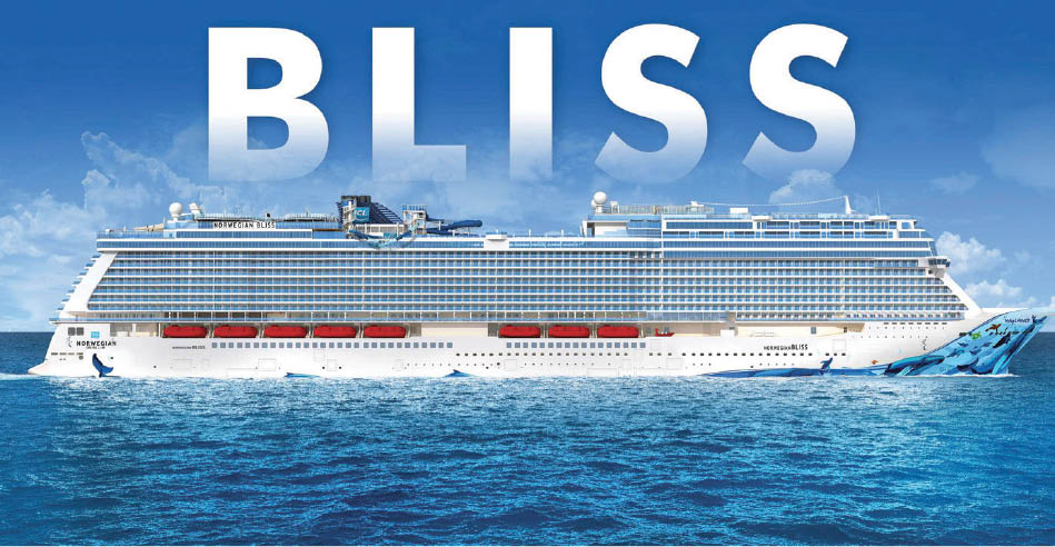 The Bliss Cruise Ship - newest ship to the Norwegian Cruise Line family of ships - Cruise Planners - David McMurrin