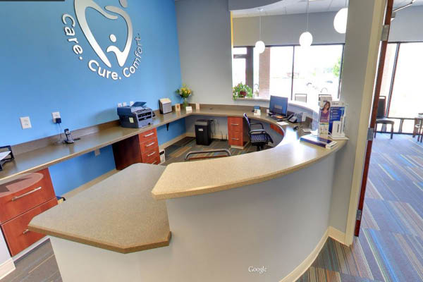 Ohio Family Dentistry, reception desk