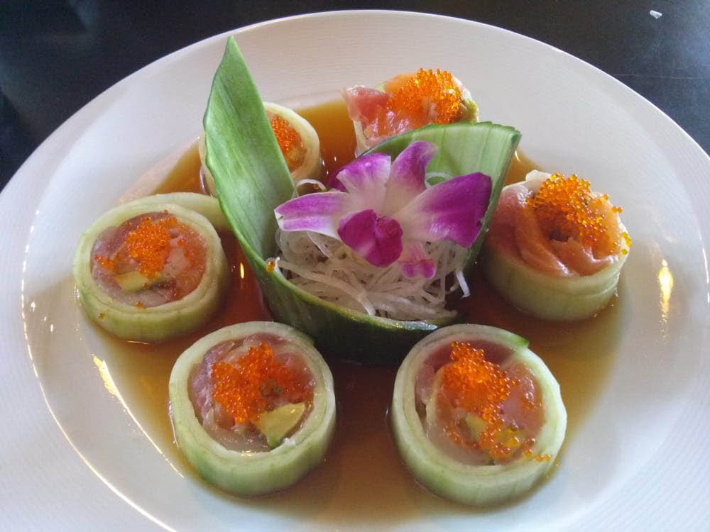 Delectable Low Carb Sushi Roll (rolled in cucumber instead of rice) near Pacheco, CA