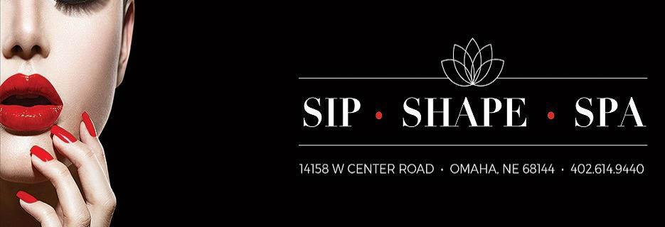 Sip, Shape & Spa Signage banner