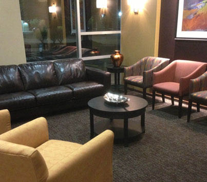 Comfortable lobby of Olympia Dental Group in Lacey, WA