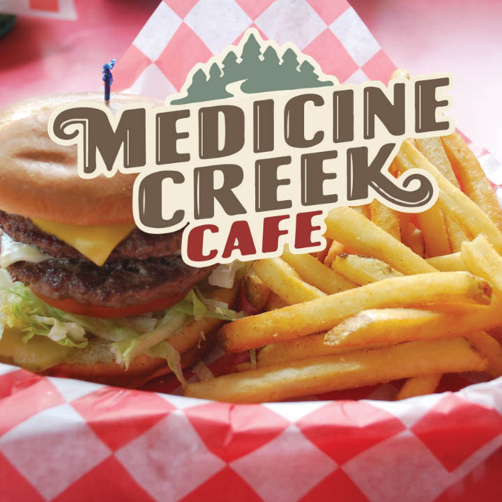 Enjoy a signature burger from Medicine Creek Cafe in Olympia, WA - burgers - Olympia cafe - dining in Olympia - restaurants in Olympia - Olympia dining near me - Olympia restaurants near me