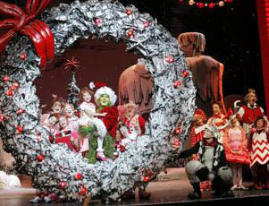 photo of cast of How the Grinch Stole Christmas the Musical at the Fox Theatre