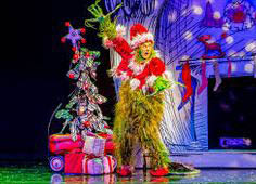 photo of the Grinch from How the Grinch Stole Christmas! The Musical at the Fox Theatre