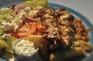 photo of kabobs from Orange Tree Cafe Restaurant in Warren, MI and Sterling Heights, MI