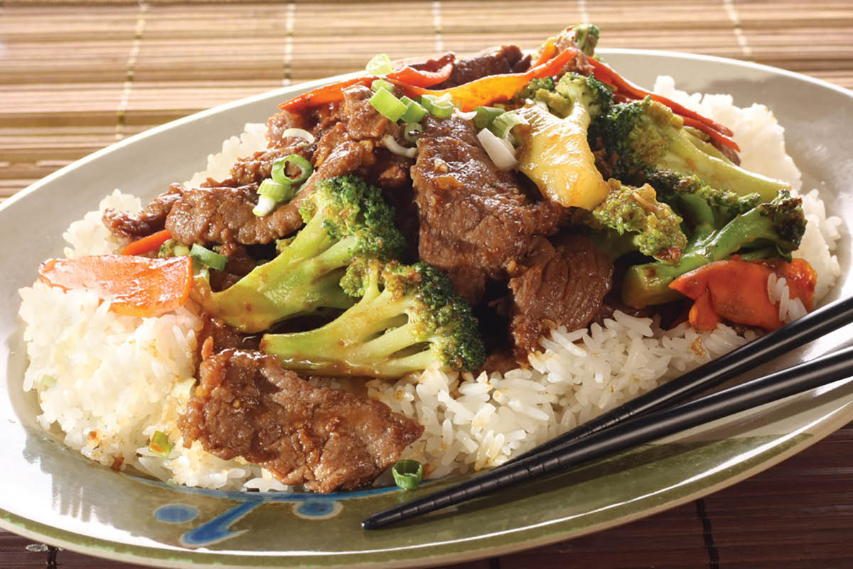 beef and broccoli; osaka grill and supreme buffet located in crofton, maryland
