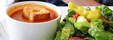 Picture of soup and salad near West Allis, WI available for purchase at Osgood's.