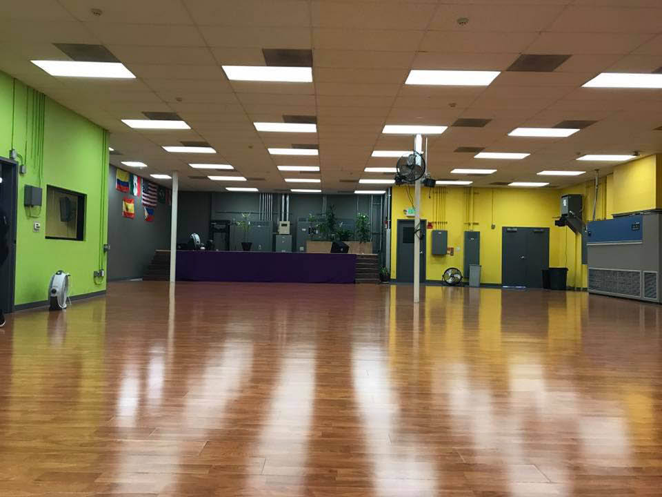 Our Studio large dance and fitness floor space in Concord