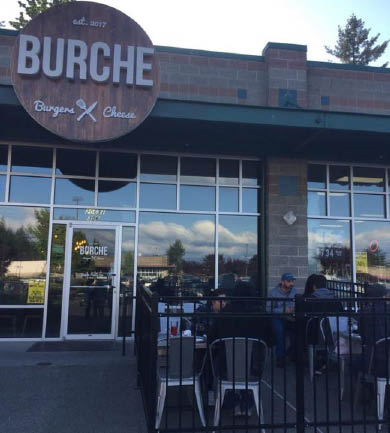 Eat outside at Burche Burgers restaurant in Bonney Lake, WA - Bonney Lake restaurants - patio dining