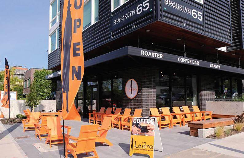 Outside the Ravenna Caffe Ladro in Seattle, WA - coffee shops near me - espresso near me - Seattle coffee near me