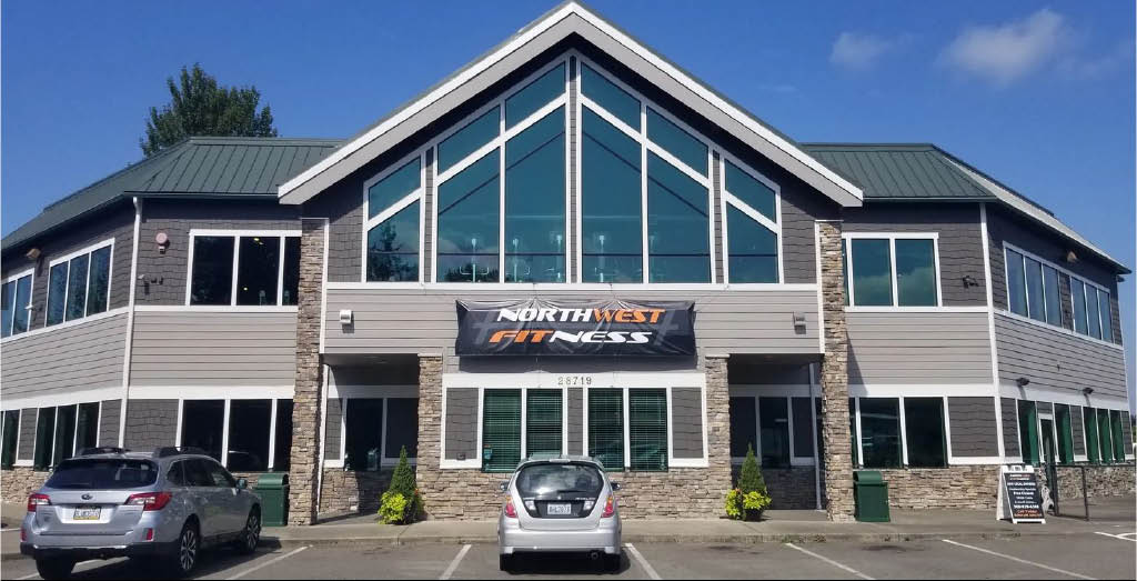Exterior of Northwest Fitness fitness club in Buckley, Washington - Buckley health clubs - join a gym - fitness clubs near me - health club coupons near me - gym coupons near me