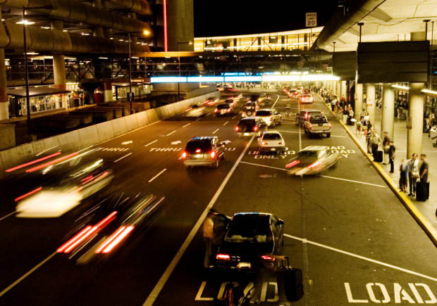 Drop off area at Seatac Airport - airport transportation from Eric's Airport Access - Seattle, Washington