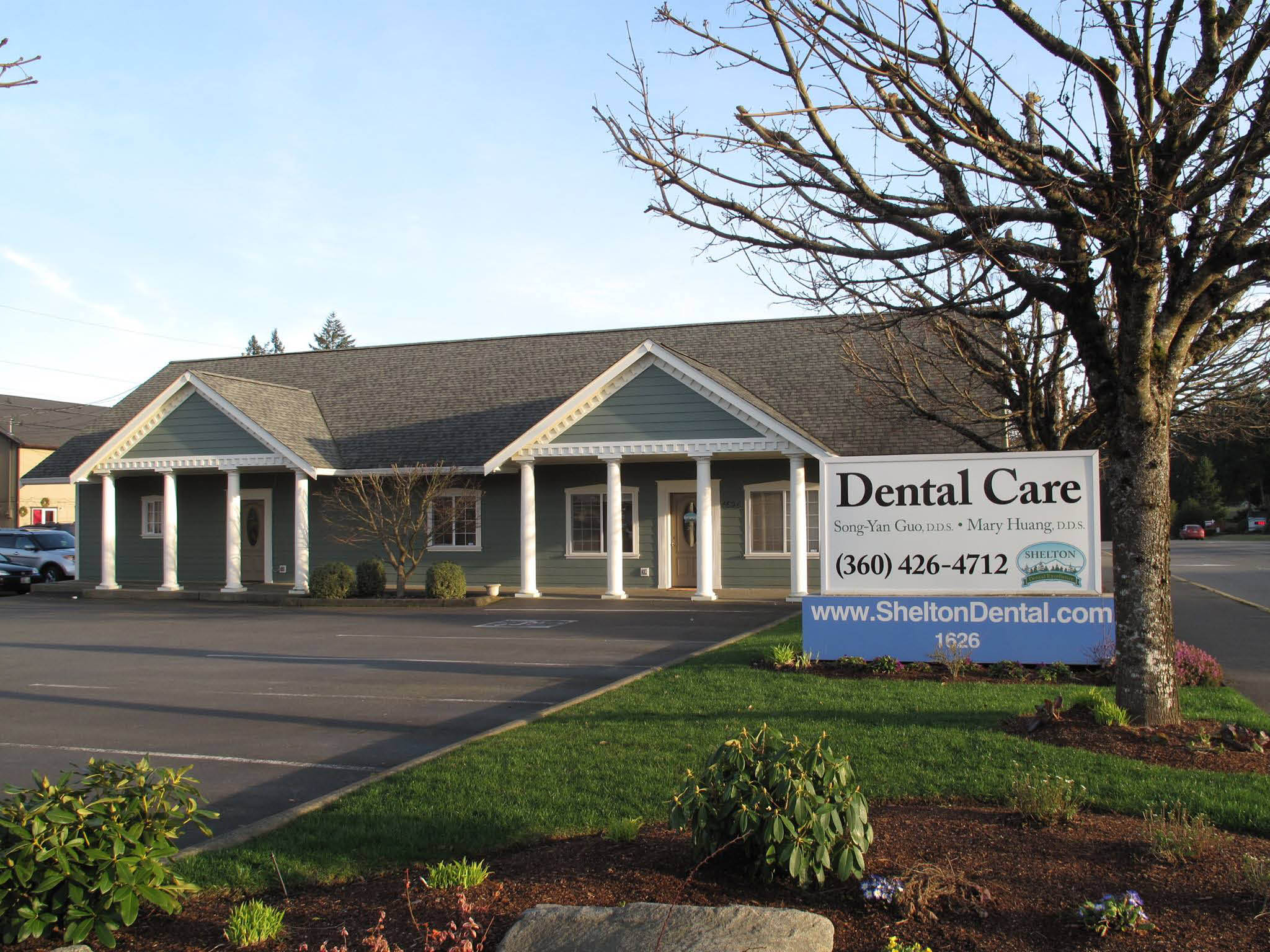 Outside Shelton Dental Excellence - exterior of Shelton Dental Excellence - fun dental office in Shelton, WA