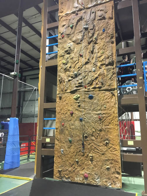 Ozzy's Family Fun Center near Reading, PA offers rock climbing.