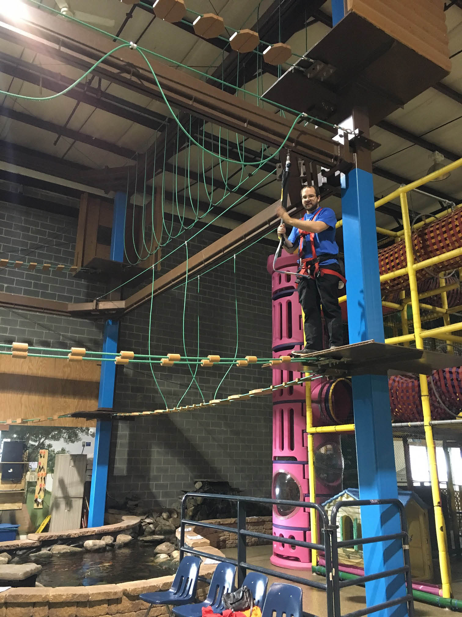 Ropes course at Ozzy's Family Fun Center in new Hamburg, PA and Blandon
