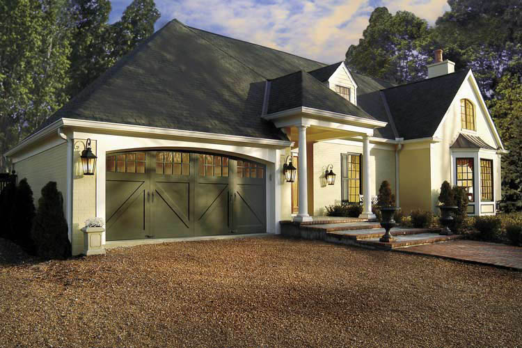 Photo of carriage home garage doors from Precision Door Service Nashville TN