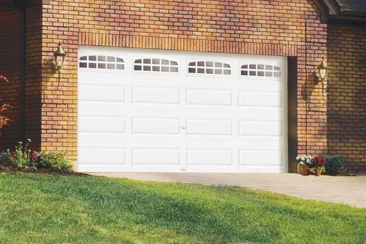 Photo of single garage door repaired by Precision Door Service