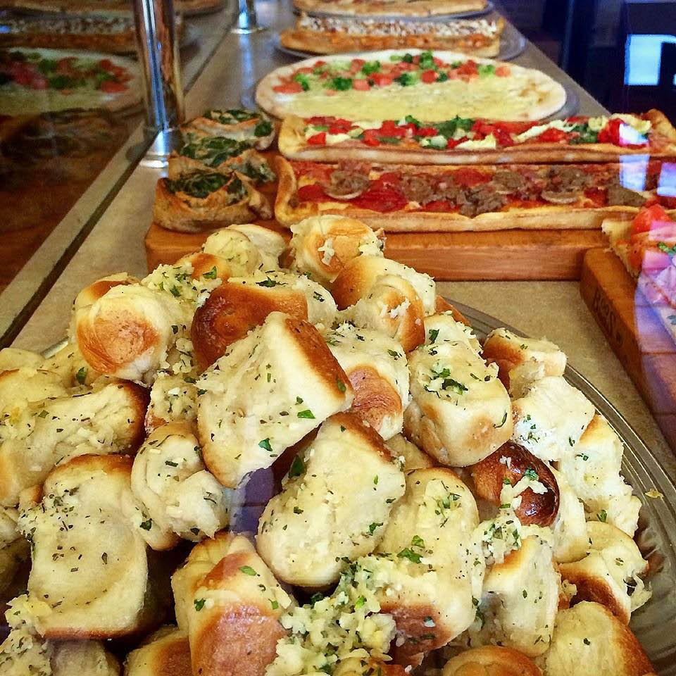 Try an order of Pizza Mia garlic knots