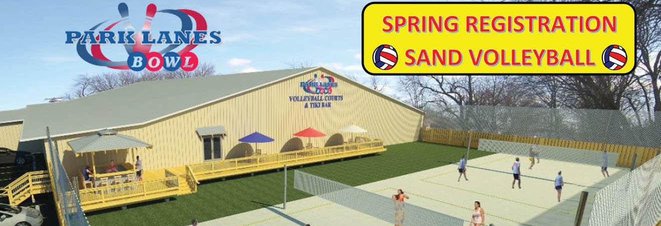 Tiki Bar Spring Registration Volleyball League in Loves Park