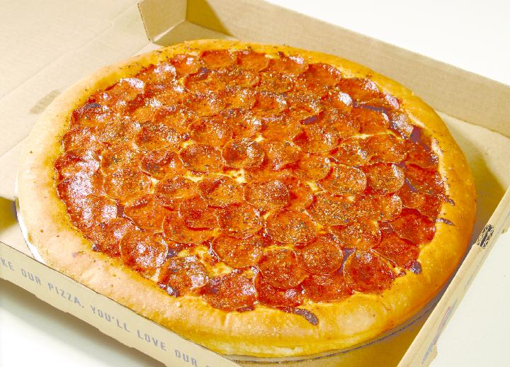 pepperoni pizza burger & fries chomp delivery iowa city, iowa