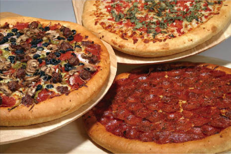 specialty pizza from riella's homestyle