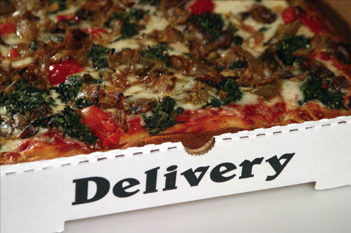 Our New York Pizzas are available for delivery or you can dine in