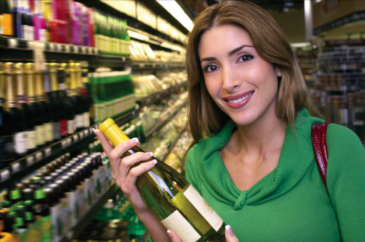 Westminster Total Beverage wine champagne liquor bottles woman