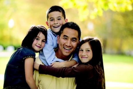 happy foster family