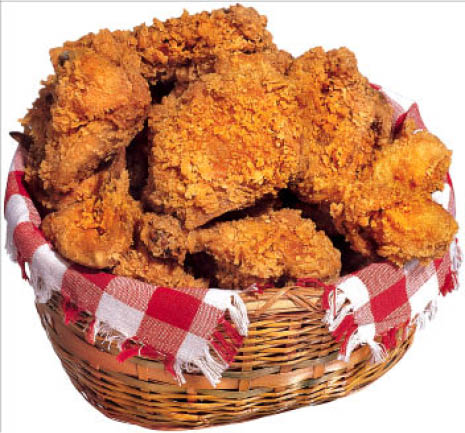 Basket of chicken wings at Buddy's.