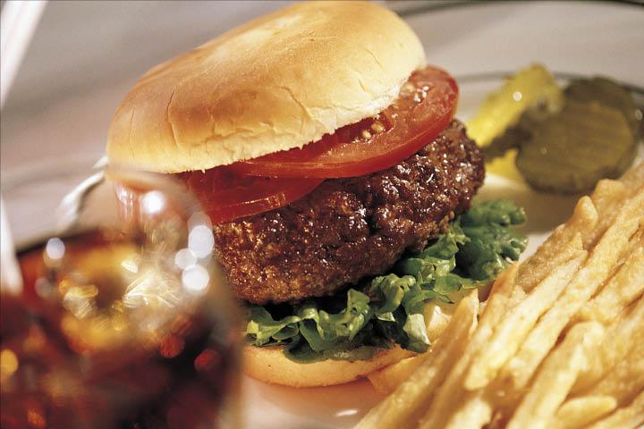 Burger American flare American food American seafood