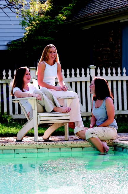 The perfect place for family & friends to socialize is by your in ground pool