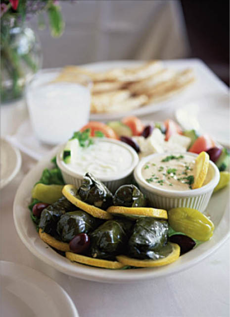 Grape Leaves - Dolmeh with dips