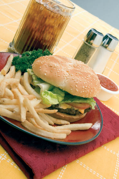 hamburger, lunch, food