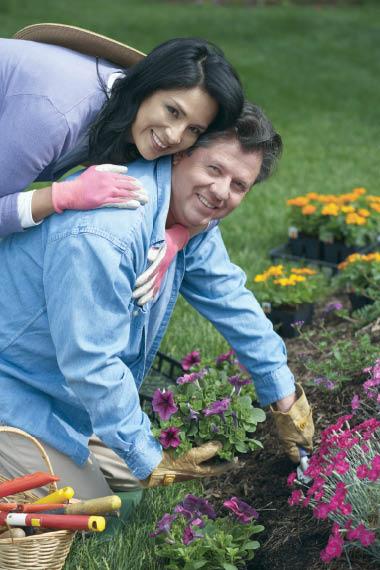 The Sprucery Garden Center of Franktown, CO man woman garden flowers shrubs grasses