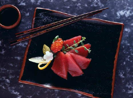 Tuna, Salmon, Ikura & many other sashimi & sushi dishes are available at the sushi bar or  at dinner in our restaurant. We even have a boat on the menu if you need an assortment to please a table.