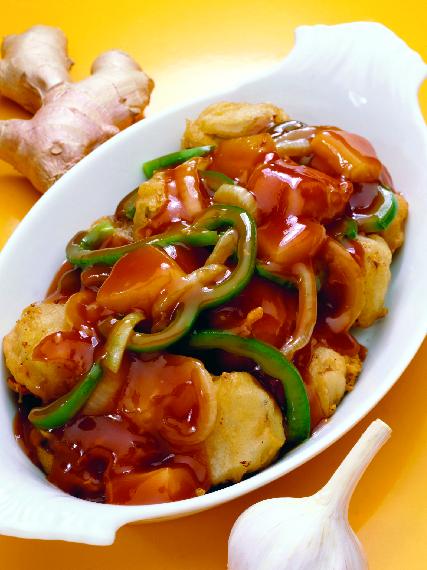 Plated Chinese Chicken and Veggies from New China in Nokomis, FL