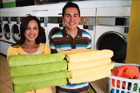 London Cleaners offers complete laundry, fluff & fold services