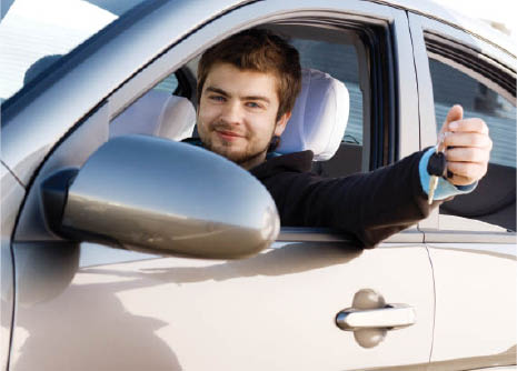 man driving off the lot with a used car best car cedar rapids IA