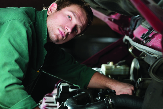 Richlonn's Fix Tires and Truck service center in Waukesha, WI offering car batteries, shocks and struts and hose inspection of belts.