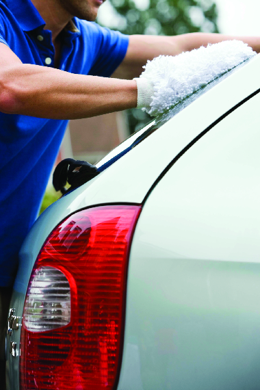 Auto Pride uses wash mitts to clean every car