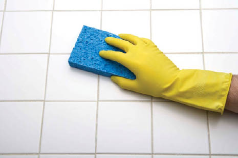 Bathroom tile and grout cleaning