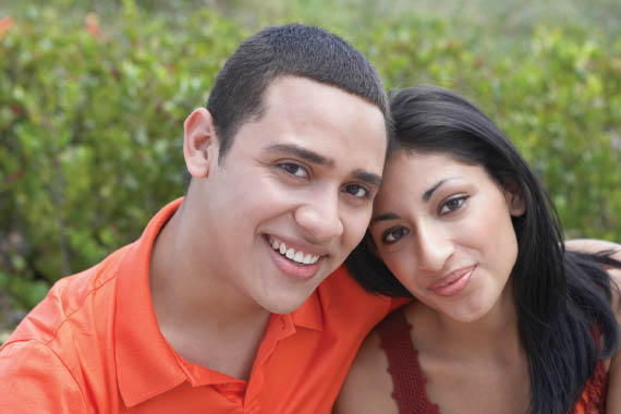 Young couple smile Tukwila WA
