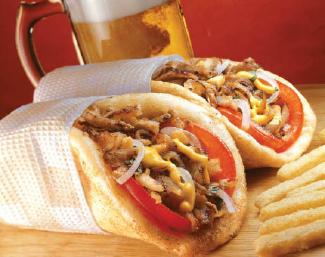 gyros and beer