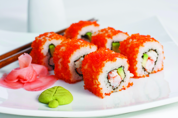 Mexican roll with ginger & wasabi