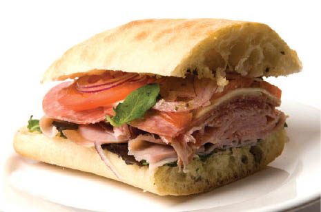 Try our overstuffed sandwiches with fresh meats, cheeses and veggies