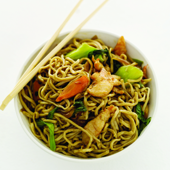Chow Mein and Chow Fun; vegetables; noodles