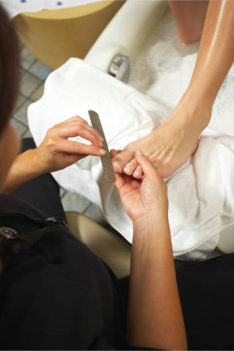 Try a relaxing pedicure at Tip Toe Nails & Spa.